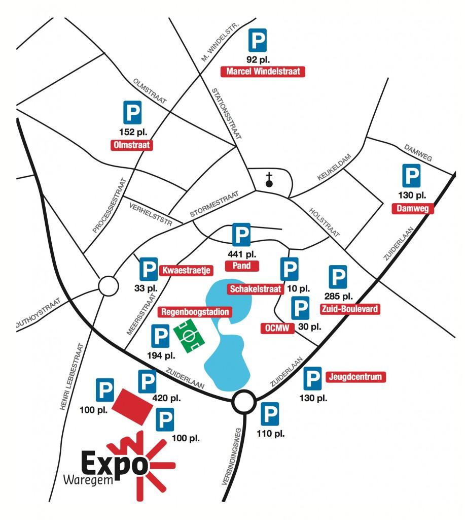 parkeerplan Waregem Expo
