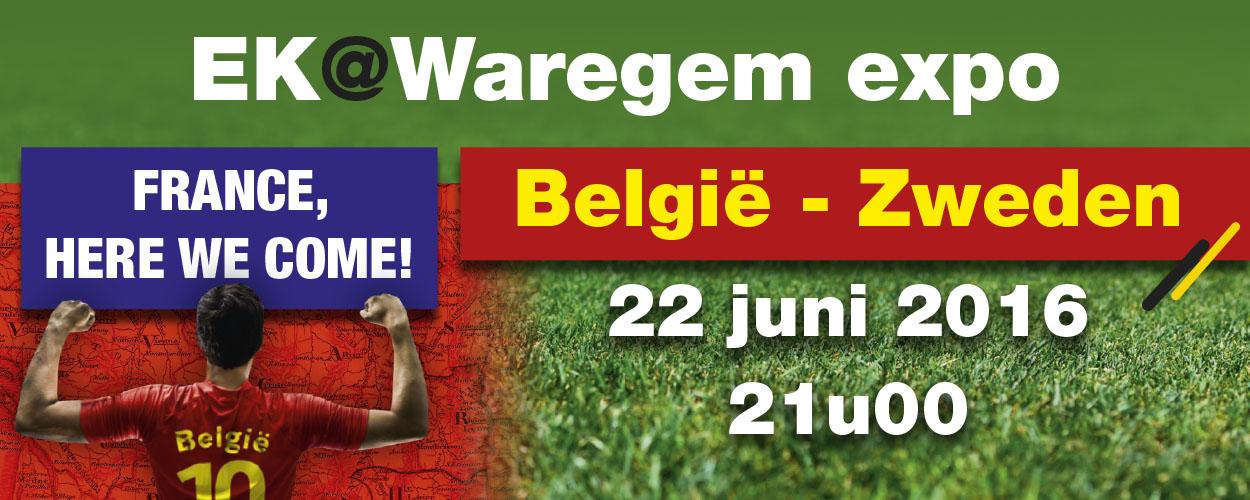 """EK @ Waregem expo """"België – Zweden"""""""
