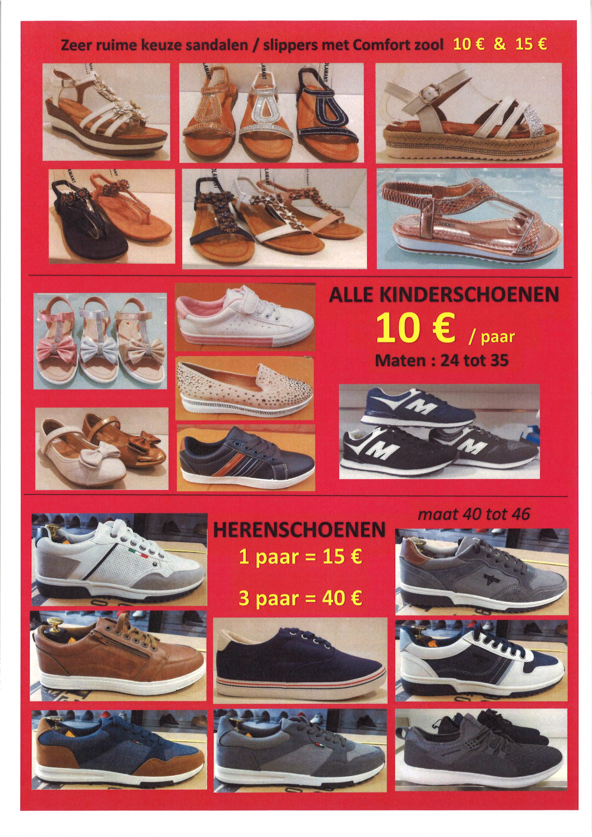 Stockverkoop schoenen