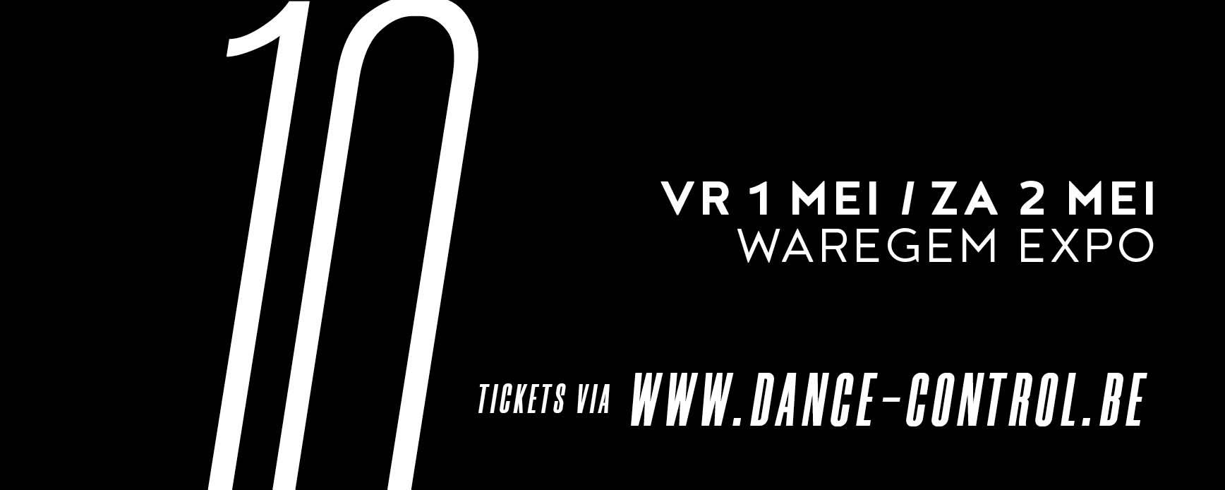 Dance Control – verplaatst naar 01 en 02 mei 2021