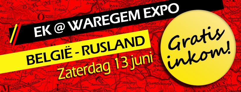 """EK@Waregem expo """"België – Rusland"""" – geannuleerd"""