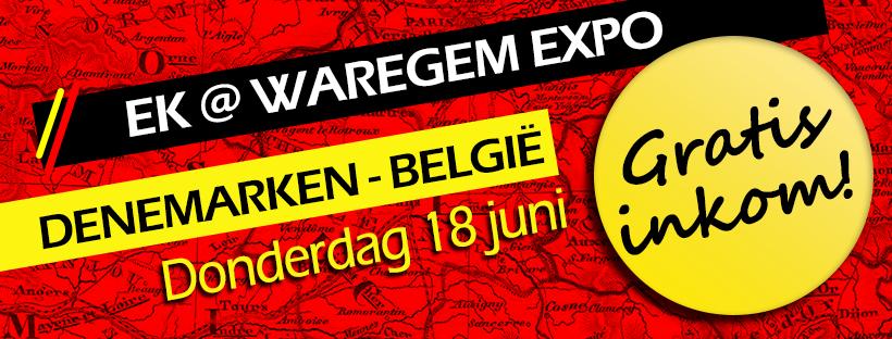 "EK@Waregem expo ""Denemarken – België"" – geannuleerd"